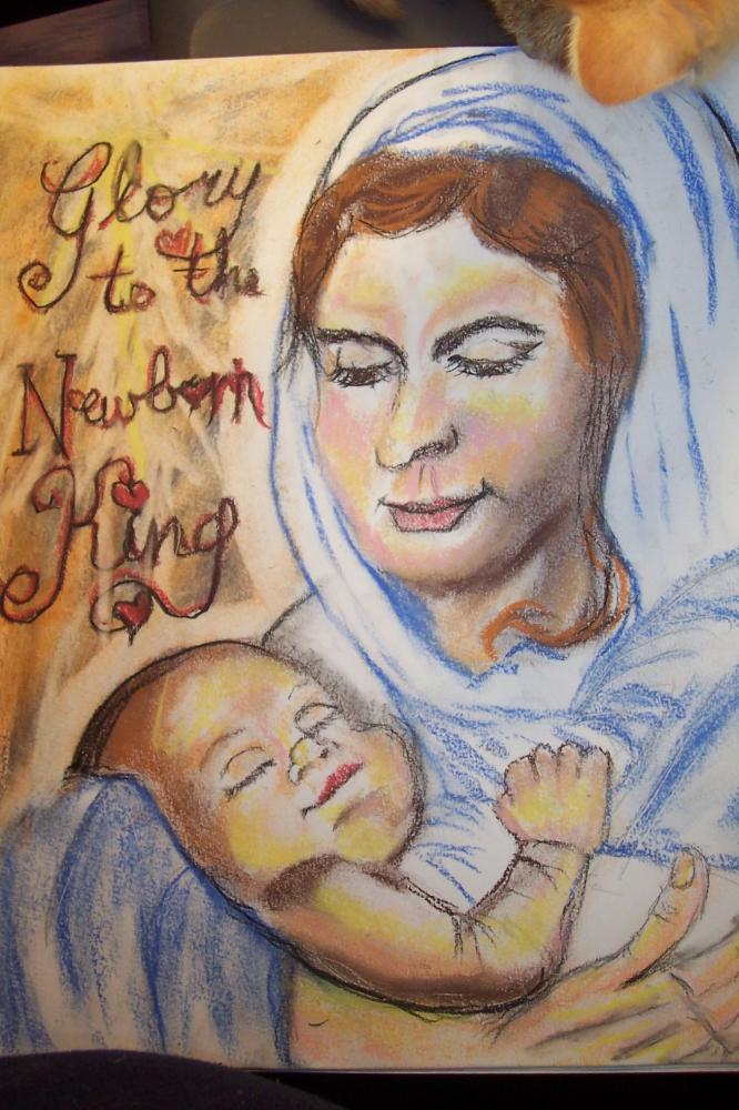 Jesus Christ, Virgin Mary par cindykron
